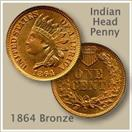 UNITED STATES Coin 1864 INDIAN HEAD PENNY